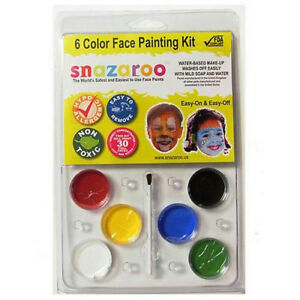 Snazaroo Clam Pack 6 Colors Clown Face Painting Kit