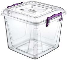 8.5 L Clear Strong Plastic Pantry Boîte alimentaire conteneur de stockage Clip P...