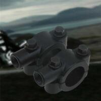 2x Universal Motorrad Spiegel schelle Halter Spiegelhalter für 22mm Lenker Z6J1
