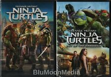 Teenage Mutant Ninja Turtles 1 & 2 DVD Lot Remakes Out of the Shadows Brand NEW