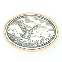 Scrimshaw Series Eagle Belt Buckle - Handcrafted USA Patriotic Western