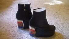 Vivienne Westwood Towering Ankle Boots Black Size 5 Size 38