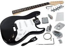 Solo ST Style DIY Guitar Kit, Finished Basswood Body, Black, STK-1BK