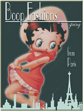Vintage Magnetic Pin-Betty Boop Fashions from Paris Fridge Magnet Rockabill