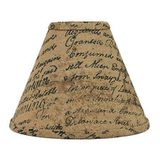 10 inch Burlap Lamp Shade Home Collection by Raghu Indentured French Script