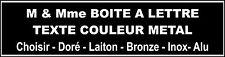 plaque style Boite à Lettre NOIR écriture OR ALuminium 2cm x 9cm