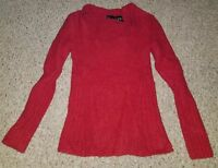 Preowned Victoria's Secret Moda International Boucle Red Sweater: Medium