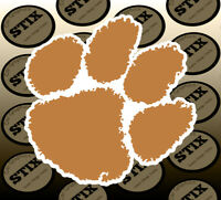 Clemson Tigers Logo NCAA Die Cut Vinyl Sticker Car Window Bumper Decal