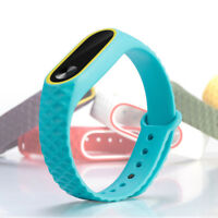 Fashion Replacement Silicone Bracelet WristBand Watch Strap For Xiaomi Mi Band 2