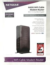 NETGEAR N600 WiFi Cable Modem Router - C3700-100NAS - Brand NEW