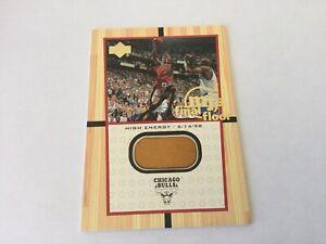 Michael Jordan Upper Deck High Energy Final Floor Jumbo Piece Of Floor Bulls a