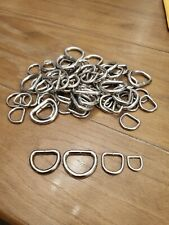 Assorted Nickel Plated D Rings
