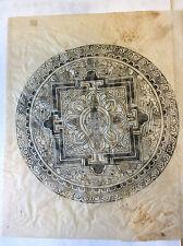 Mandala Thangkas Bouddha Estampage  ancien Tibet Népal Tantra