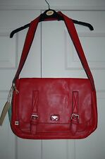 🌹 New Rocket Dog Holly Berry Red Satchel Polkadot lined Padded 40x27x10 Gift