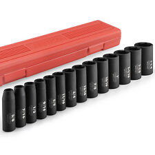 "14pc SAE Deep Impact Socket Set | 1/2"" Drive 3/8"" to 1-1/4"" Cr-V Steel 6-Point"