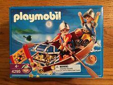 Playmobil 4295 Knight Pirates in Row Boat w/ Treasure Chest New in Box!
