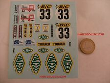 decals decalcomanie citroen sm rallye tour de france 19772 1/18