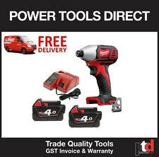 Milwaukee 18v Cordless M18BID Impact Driver With 2 X 3amp Batteries