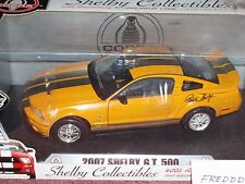 SHELBY COLLECTIBLES 2007 FORD SHELBY MUSTANG GT500 1/18 SIGNATURE EDITION
