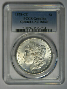 1878-CC MORGAN SILVER DOLLAR ~ NGC UNC DETAILS ~ PRICED RIGHT! 734
