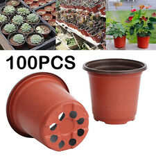 100PCS Plastic Flower Pots Plant Nursery Garden Seedlings Growing Containers AU