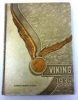 1939 Vintage Chicago Roald Amundsen High School Year Book Good Condition