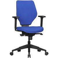 FineBuy Bürostuhl Stoff Blau Schreibtischstuhl Drehstuhl Drehsessel Büro 120 kg