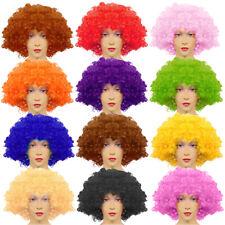 CURLY AFRO WIGS COLOURS FUNKY 70S DISCO CLOWN HAIR UNISEX MEN LADIES FANCY DRESS