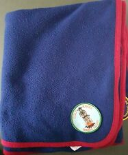 More details for vintage girl guide camping blanket from 2000s w/ 41 patches - africa rome etc.