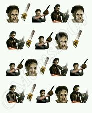 Chainsaw Masacre Leatherface Nail art water decals Free shipping!!