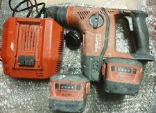 HILTI TE 6-A36 sans fil 36 V SDS Perceuse à Percussion 2x Lithium Batteries Et C...