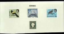 Gambia QV-QEII Album Page Of Stamps #V14378