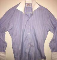 TURNBULL & ASSER 15 - 34/35 French Cuff STRIPED Luxury Dress Shirt