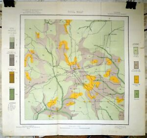 Original 1903 USDA Soil Survey Map for Jacksonville, Texas. Craft, Reynolds.
