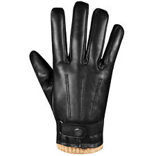 Men's Premium Lambskin Leather Touchscreen Winter Warm Dress Driving Motorcycle