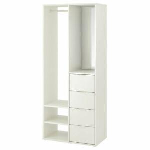 IKEA SUNDLANDET open wardrobe 79x44x187 cm white
