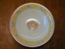 "Disney POOH BOUQUET Set of 7 Coupe Soup Bowls 8 1/4"" Yellow Pink Blue Purple"