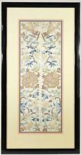 FRAMED CHINESE EMBROIDERED SILK SLEEVE KIMONO CUFF