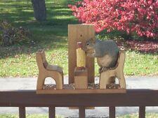 Squirrel Feeder Handcrafted in Western Red Cedar