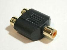 Female RCA Y Splitter 2 Female RCA Combiner Converter Adapter Jack