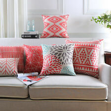 Geometric Square Rectangle Pillow Case Cover Sofa Waist Cushion Cover Eyeful