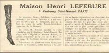 PARIS MAISON HENRI LEFEBURE PETITPONT TRIBOUT BAS TRICOT PUBLI-REPORTAGE 1924