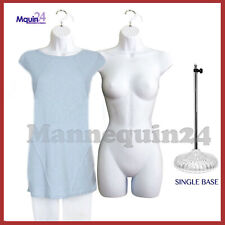 2 pcs of Female Body Mannequin Body Forms *White* +1 Table Top Stand + 2 Hangers