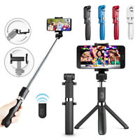 Wireless Selfie Stick Shutter Remote Extendable Tripod Phone Holder For iPhone