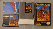Genghis Khan Nintendo NES Video Game NTSC CIB Complete Box Cart Manual Poster