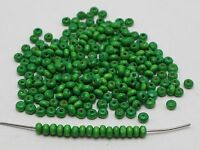 1000 Green 4mm Round Wood Seed Beads~Wooden Spacer Beads