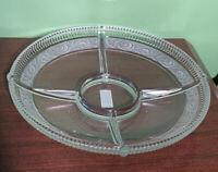"Mikasa Italian Countryside Chip & Dip Glass 12.25"" Serving Dish Tray New"