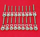 Sbc Chevy Oil Pan Stud Kit Bolts Polished Stainless 283 327 350 383 400 Tpi Set