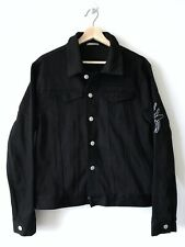 Dior Homme Black Denim Flocking Insect Bee Embroidered Jacket Mens Size Eu 46=S