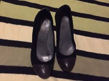 Jones Women's Suede Black and Grey Shoes, Size 4(37). Splendid Condition